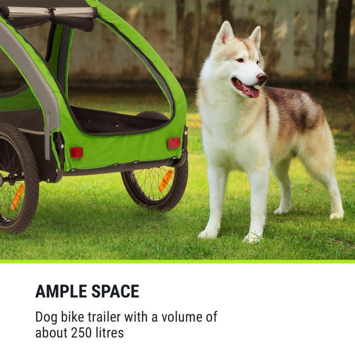 Husky Bicycle Dog Trailer approx. 250L 600D Oxford Canvas Green