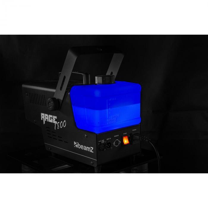 Rage 1800 LED, wytwornica mgły, 6 diod LED RGBW o mocy 4 W, 530 m3/min, 3,5 l pojemności, 1800 W
