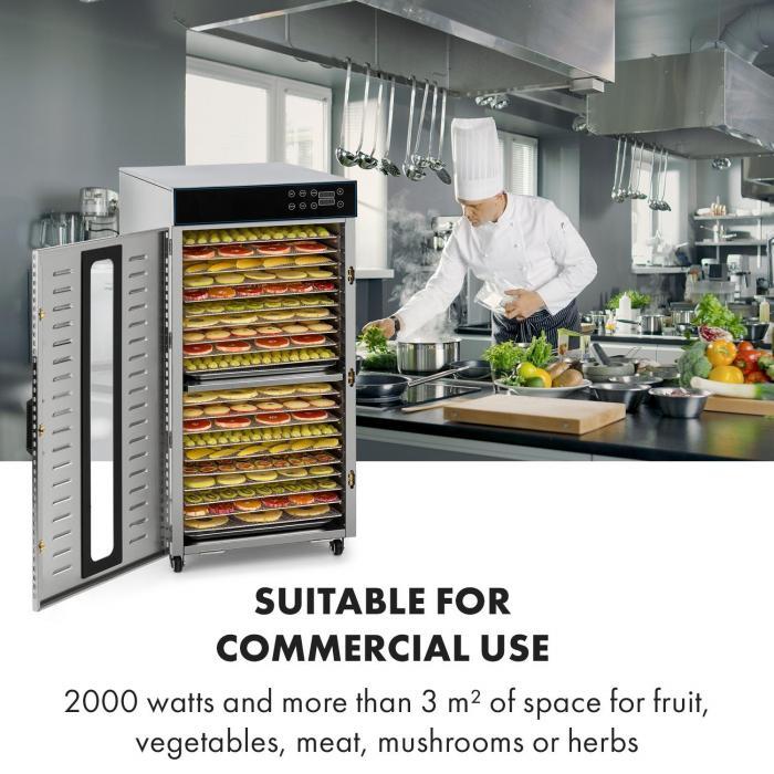 Master Jerky 300 essiccatore 2000W 40-90 °C timer 24 ore acciaio inox argento