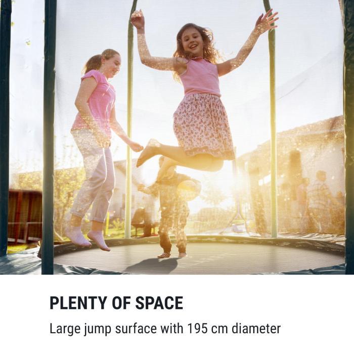 Jumpstarter trampoline 2,5m Ø net 120kg max. donkerblauw