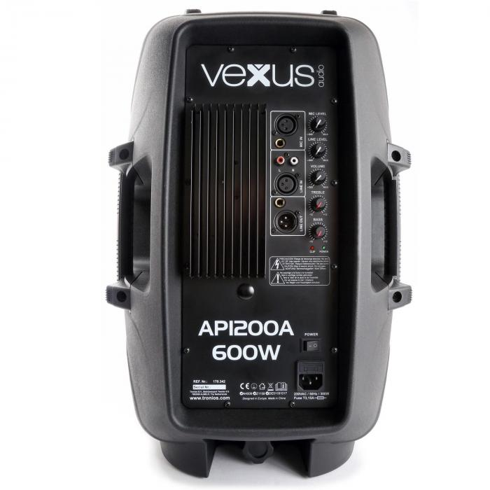 """Vonyx AP1200A high end aktiivikaiutin 30 cm (12"""") 600 W"""