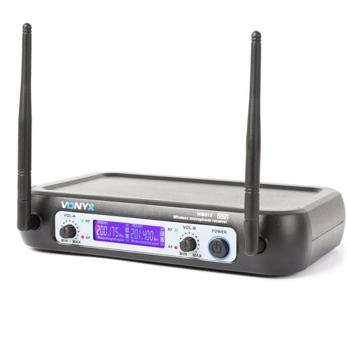 WM521 2-kanava-VHF-radiojärjestelmä 2 käsimikrofonia vastaanottolaite kuljetuslaukku