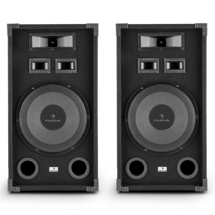 "PA-1200 Set Altoparlanti Audio Fullrange 2x12"" Subwoofer 1000w max"