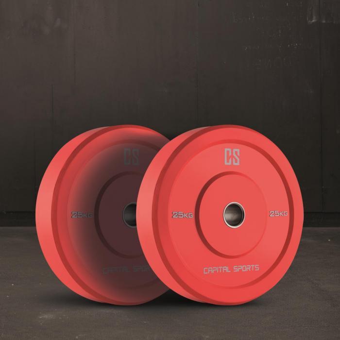 Nipton Coppia Dischi Per Sollevamento Pesi 25kg Rossi