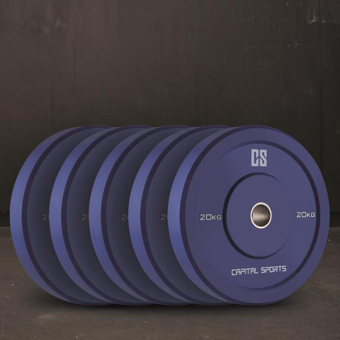 Nipton Dischi Per Sollevamento Pesi 5 Coppie da 20kg Blu