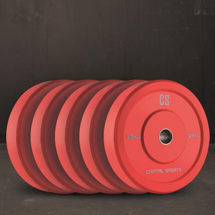 Nipton Dischi Per Sollevamento Pesi 5 Coppie da 25kg Gomma Dura R