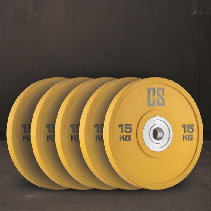 Performan uretaanipainot levypainot 5 paria 15 kg keltainen