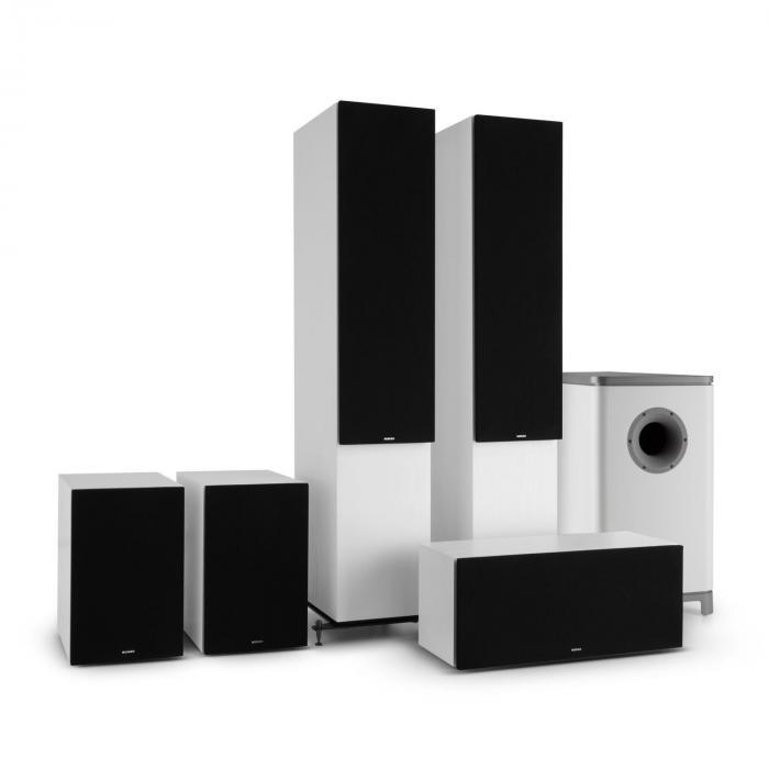 Reference 851 5.1 äänijärjestelmä valkoinen sis. suojuksen musta