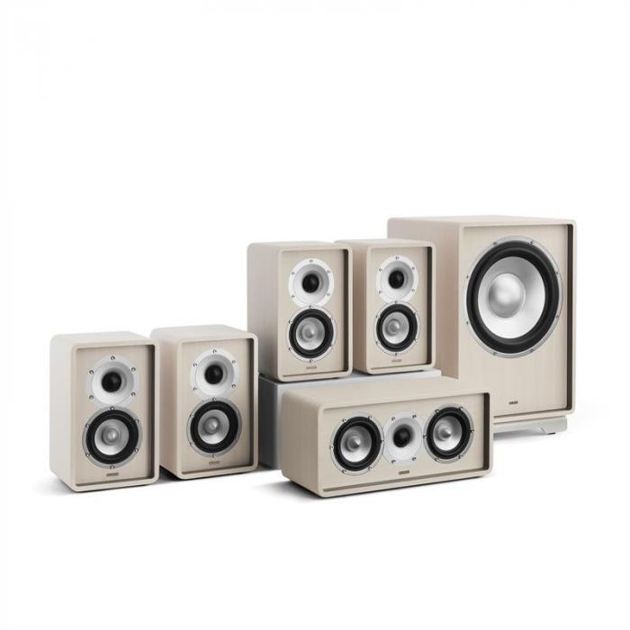 Retrospective 1979-S 5.1 -äänentoistojärjestelmä valkoinen suojus ruskea