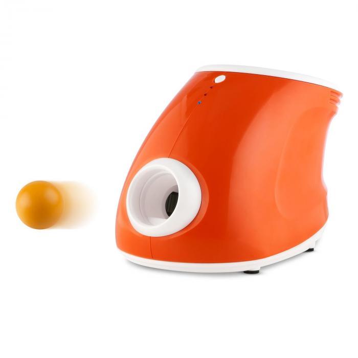 Pallonheittokone + 5 varapalloa setti koirille 3 leveyttä 8 PU-palloa