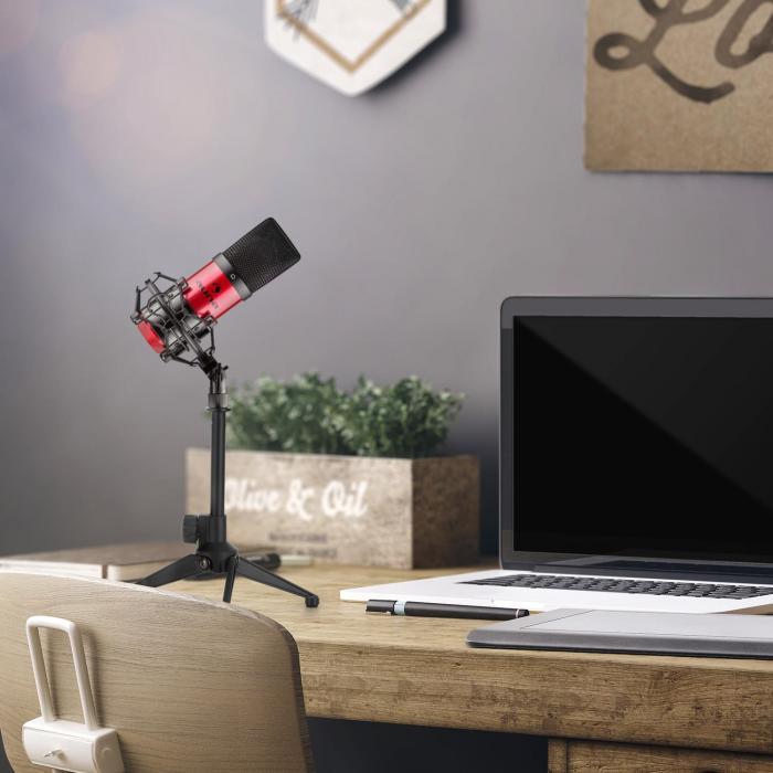 MIC-900RD USB set de micrófonos V1 micrófono condensadorrojo soporte de mesa
