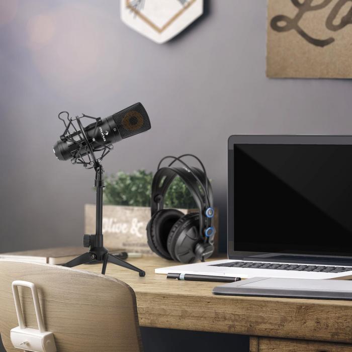 auna MIC-920B Set Microfono USB V1 Cuffie Microfono Condensatore Stativo