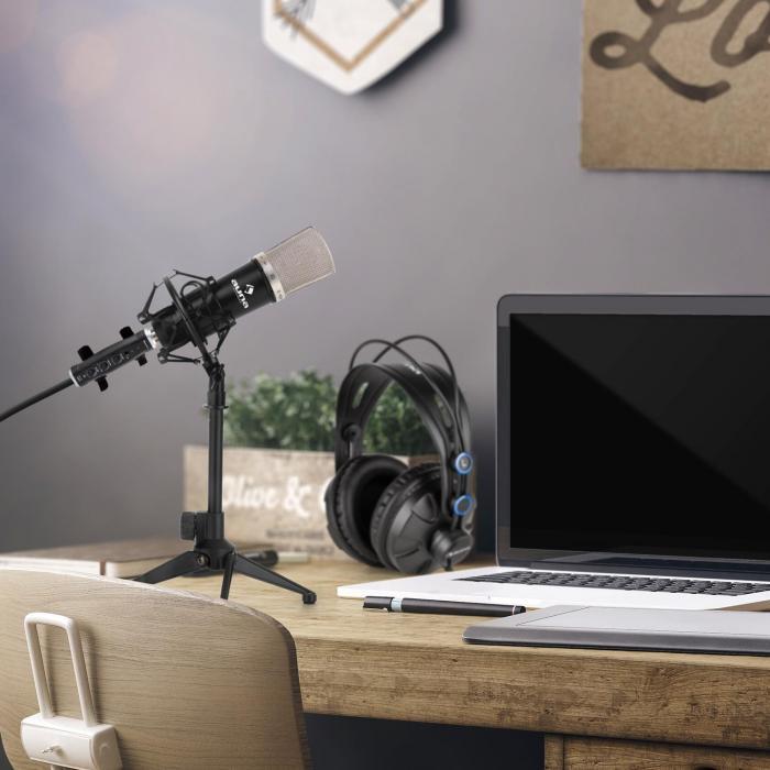 CM003 Microphone Set V1 Condenser Microphone USB Converter Headphones