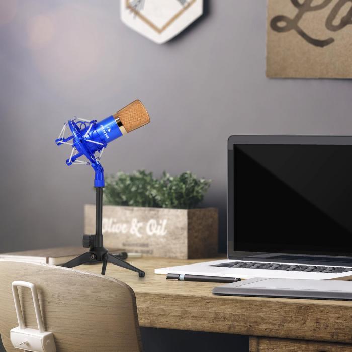 CM00BG Microphone Set V1 - Gold-Black Studio Microphone Shock Mount Table Stand