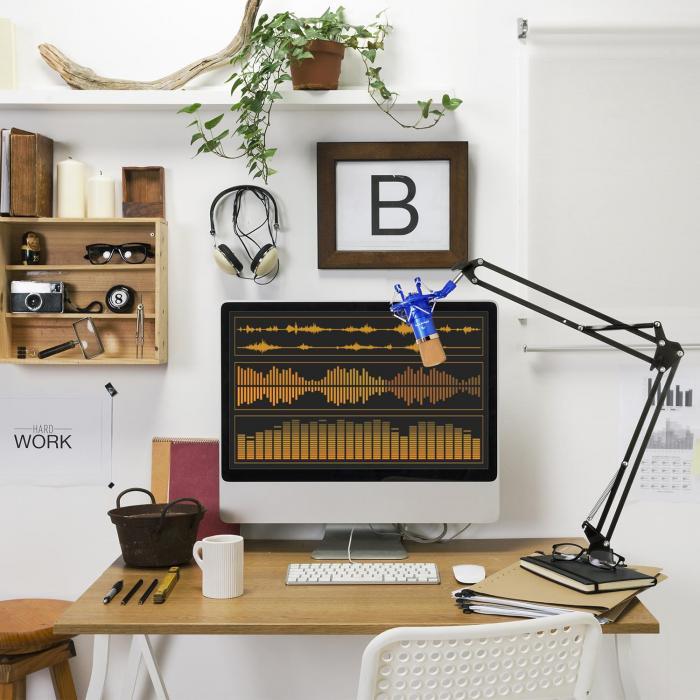 CM001BG zestaw mikrofonowy V3 mikrofon pojemnościowy ramię sterujące niebieski