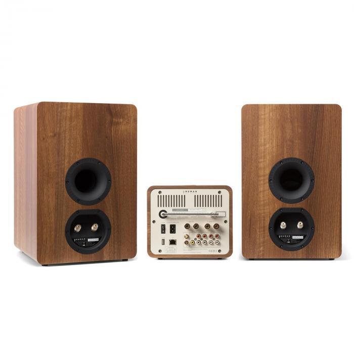 Unison Retrospective 1978 MKII Edition – All-in-One Stereoanlage: CD-Player, Internetradio, Receiver & Verstärker | inkl. 2 Boxen