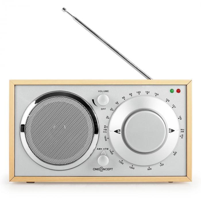 Lausanne Radio vintage quercia FM AUX