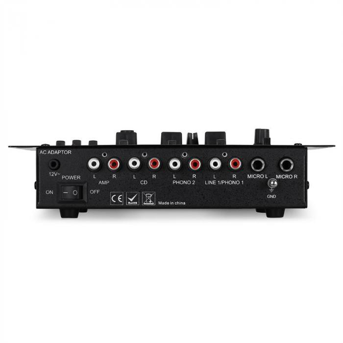 DJ-21 3/2-Kanal Mischpult Mixer USB Talkover Party
