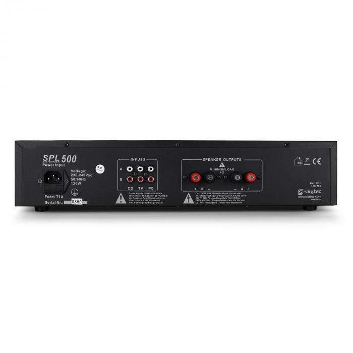 "DJ PA Set ""DJ-14"" USB, PA versterker, USB mixer, 2 x luidspreker, karaoke-micro"