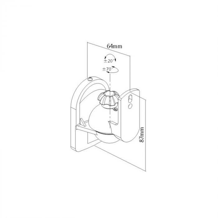 SB-28 högtalarhållare 8-dels-set svart <3,5kg hemmabio HiFi