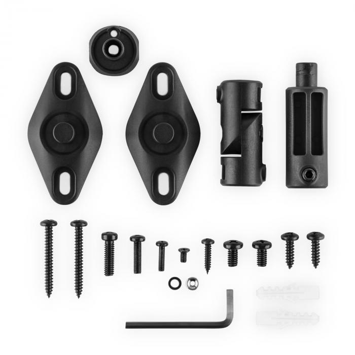 5x Set of Speaker Wall / Ceiling Mounting Brackets - Black