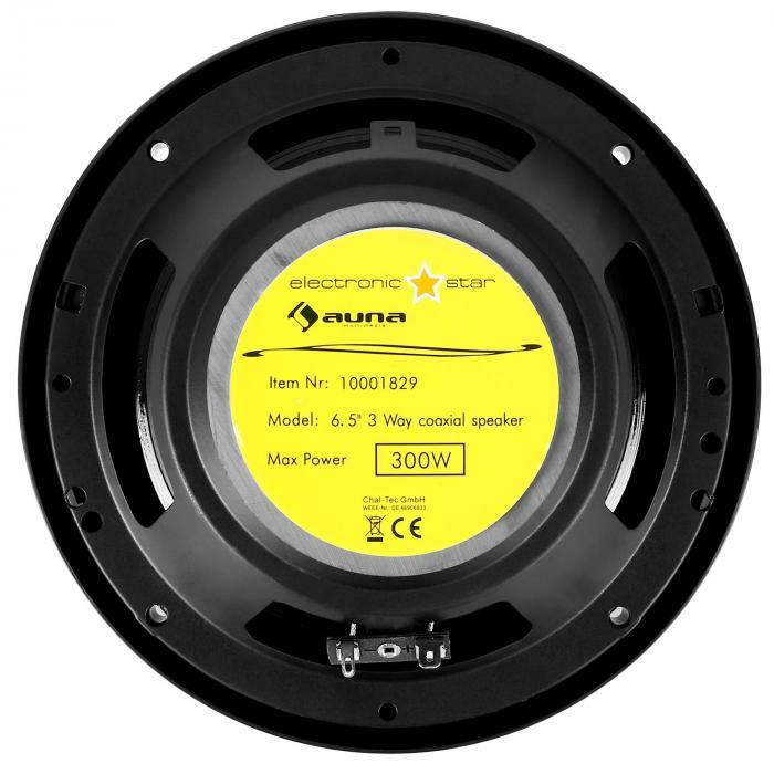 "Paar 16,5cm (6,5"") Car Lautsprecher Boxen 300 W max. black"
