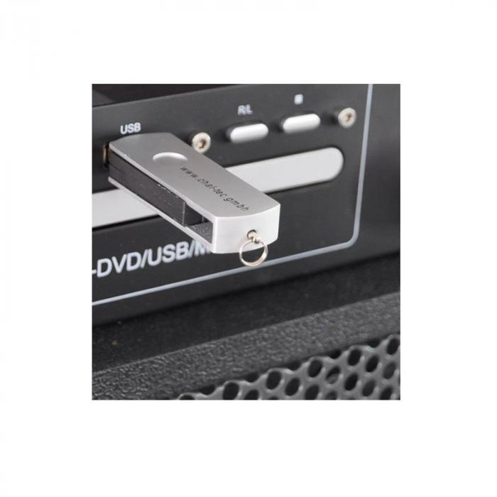 Port 8-DVD-USB mobile DJ PA System DVD MP3 USB Radio Mic