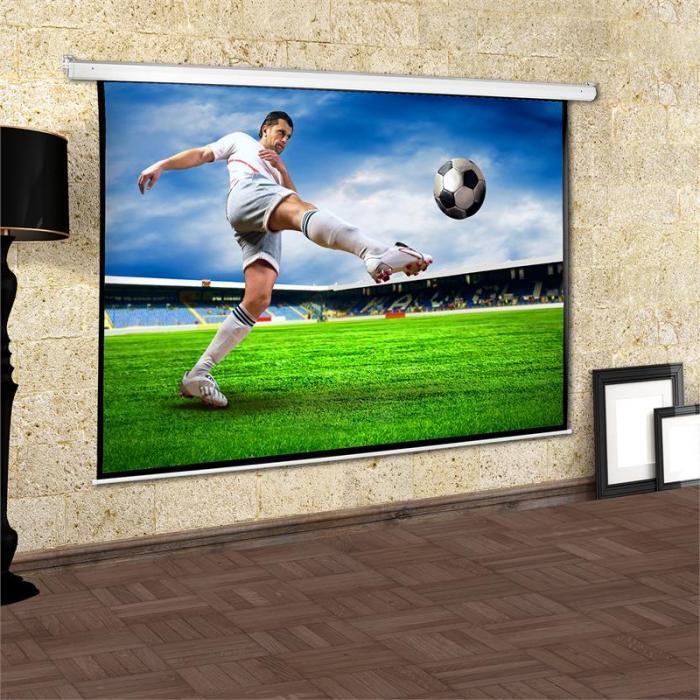 Rullavalkokangas kotiteatt.projektorille HDTV 200x150cm 4:3