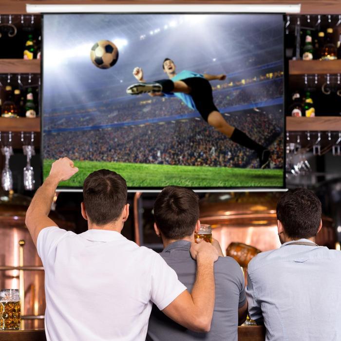Rullavalkokangas kotiteatt.projektorille HDTV240x135cm 16:9