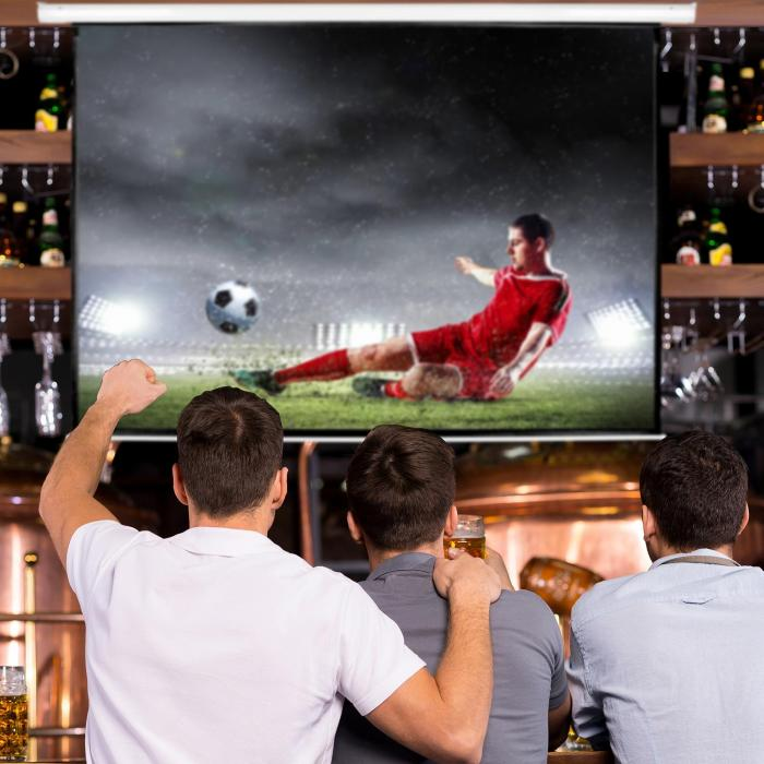 "150"" HD Home Cinema Electric Projector Screen 4:3"