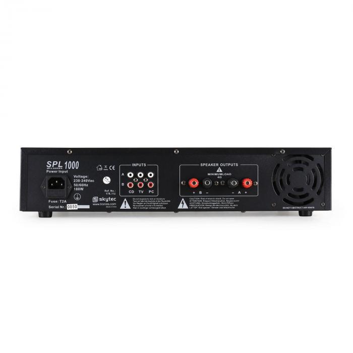 SPL-1000 PA-HiFi-VerstärkerUSB-SD-MP3 2 x 500W