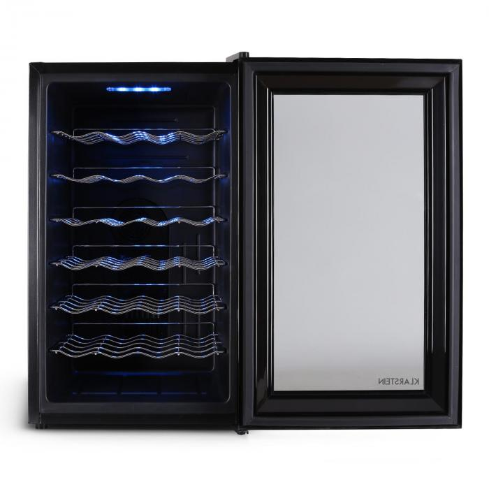 MKS-2 Wine Refrigerator 70 liters 28 bottles touch glass door black