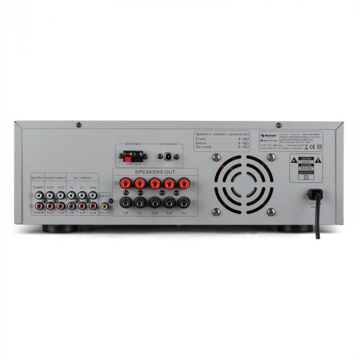 AMP-5100 Amplificador 5.1 receptor Surround 1200W