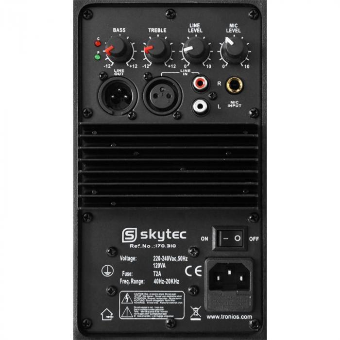 Coppia di altoparlanti Skytec 20cm 2 x 200W ABS