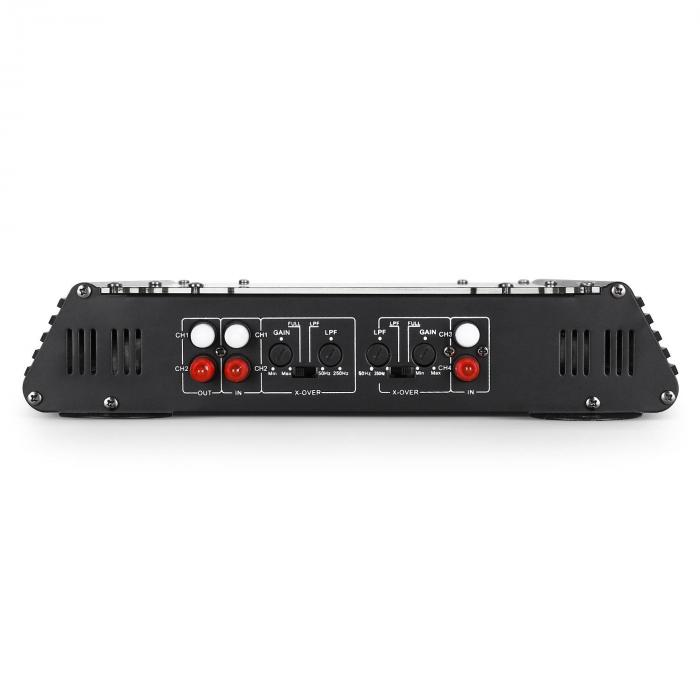 W2-AC400 4-Channel Car Amplifier with LED Lights 4000W