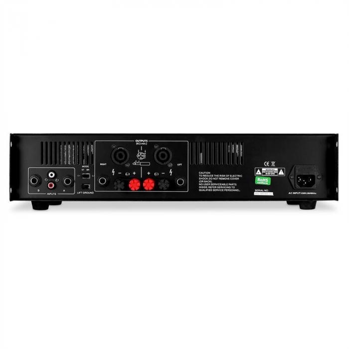 """Set audio """"SPJ Boom MKII"""" coppia casse e amplificatore 8"""" 800W"""