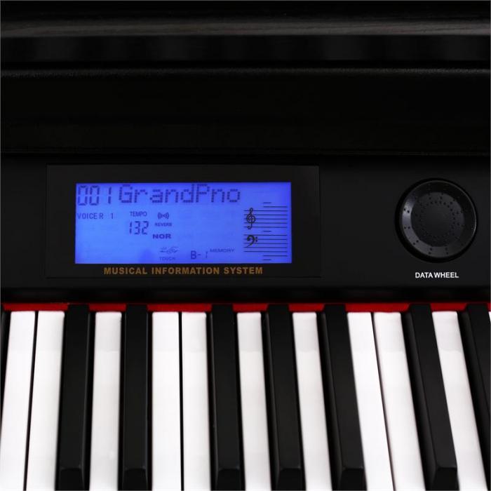 88 koskettimen sähköpiano musta MIDI 3 pedaalia