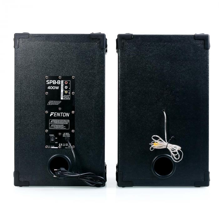 "Impianto Karaoke ""STAR-Mitte"" Casse PA 400 W| Set 2 Canali VHF Radio Microfono"