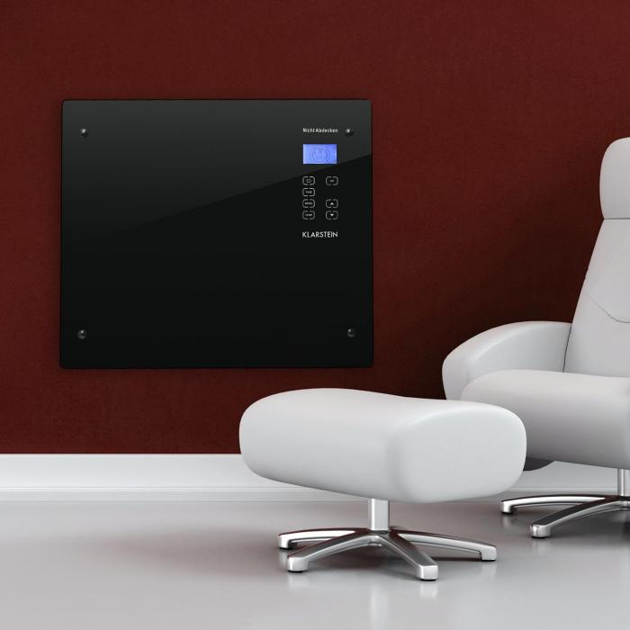 HT006GL konvektiolämmitin1000W lasi design