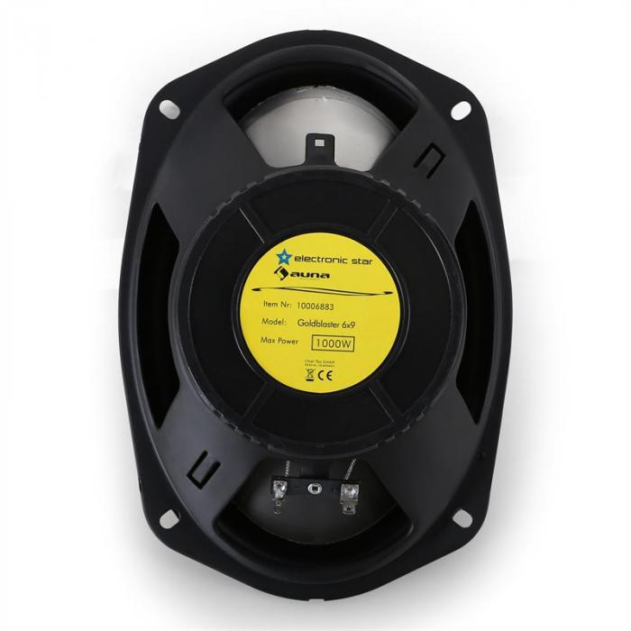 Pair Auna Goldblaster 6x9 Car Speakers 1000W