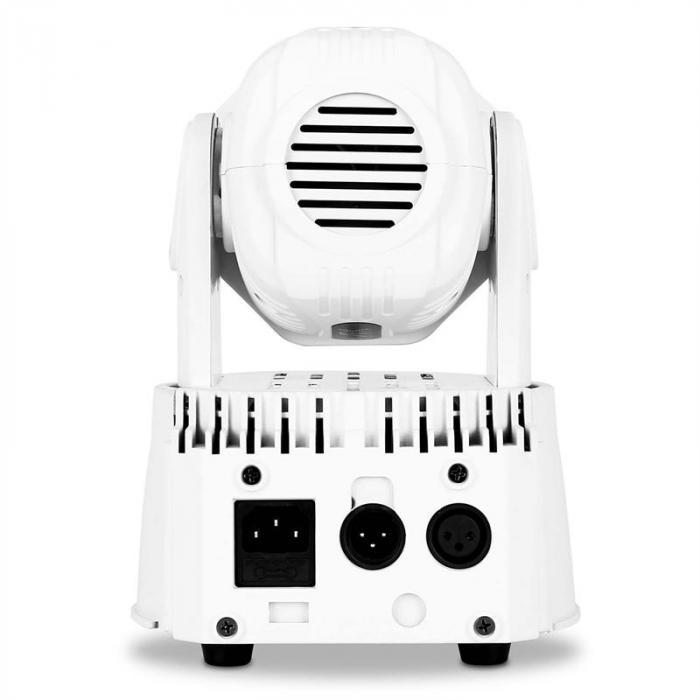 LMH350LED Mini Wash Movinghead 7 LED DMX bianca