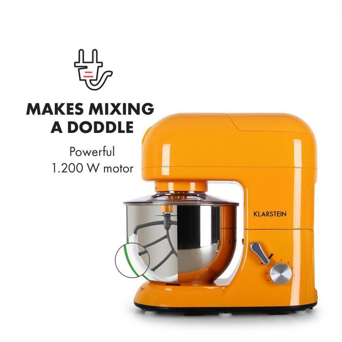 Lucia Orangina Rührmaschine Fleischwolf Mixer 1200W 1,6 PS 5L