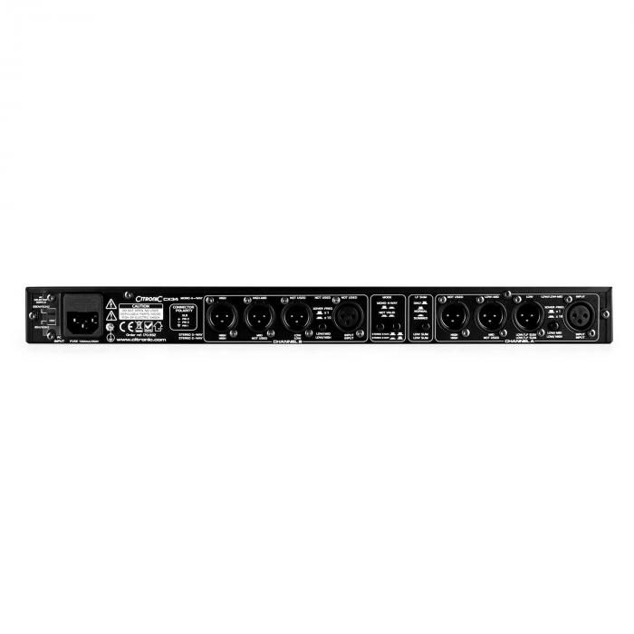 Citronic CX34 Crossover-Effekt 2/3/4-kanava frekvenssi