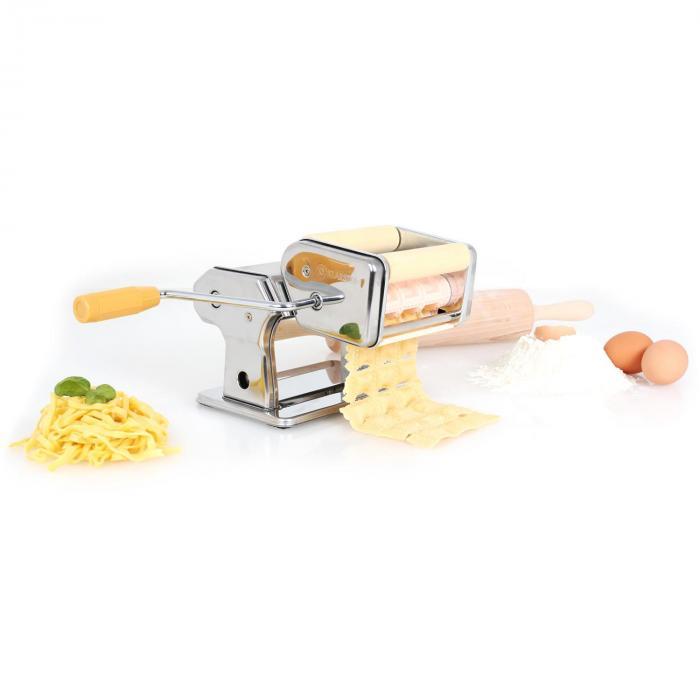 Pastasetti Siena pastakone ruostumatonta terästä & Verona pastan kuivausteline