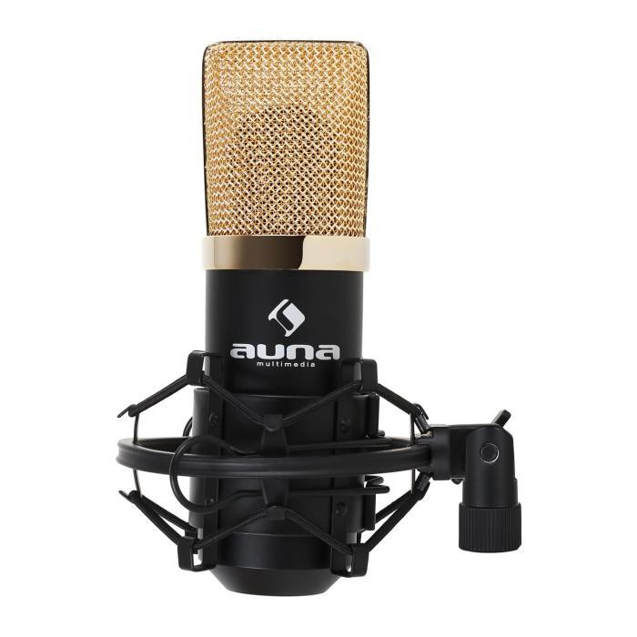 MIC-900BG-LED USB Set Microfono V2 | Set Microfono in 3 Parti con Stativo da Tavolo