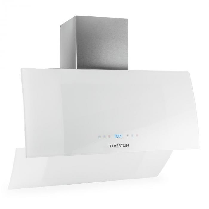 RGL90WH liesituuletin kuvuton 90cm 600 m³/h lasi ajastin valkoinen