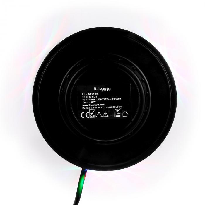 LED UFO valoefekti, musta, RGB