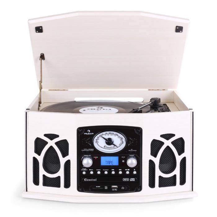 NR-620 Cadena estéreo tocadiscos grabación MP3 beige