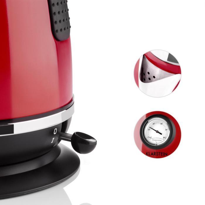 Aquavita Chalet Bollitore 1,7l 2200W rosso
