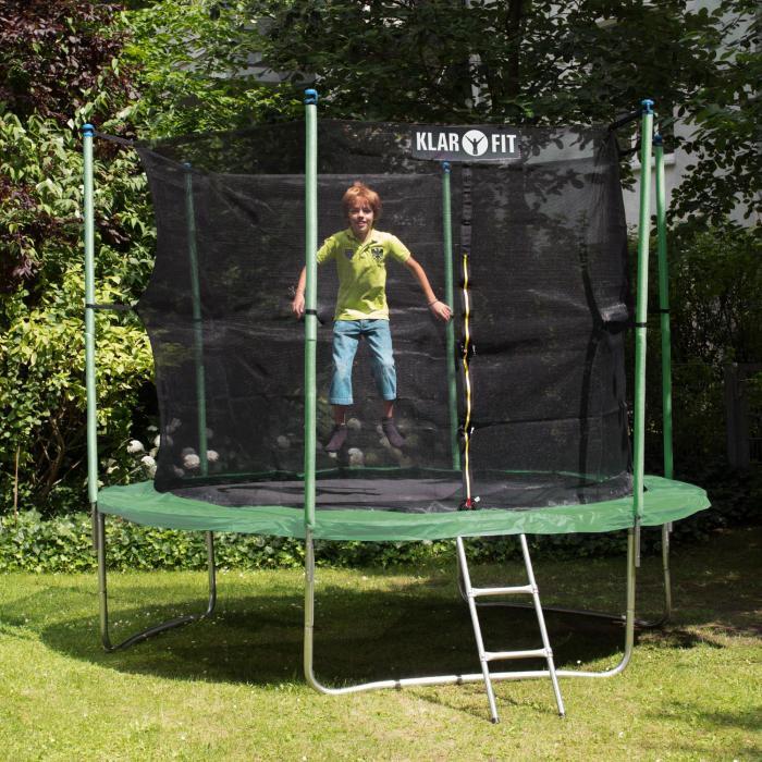 rocketstart xxxl 13ft 400cm trampoline safety net ladder green 400 cm at the best price. Black Bedroom Furniture Sets. Home Design Ideas
